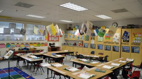 课堂教室简笔画