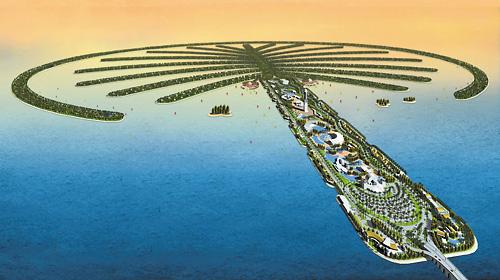 迪拜棕榈岛高清版大图